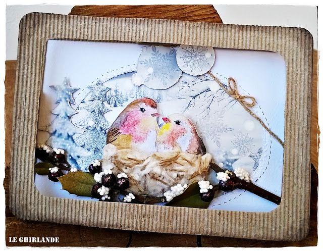 Le Ghirlande: Tepore invernale nel nido dei pettirossi