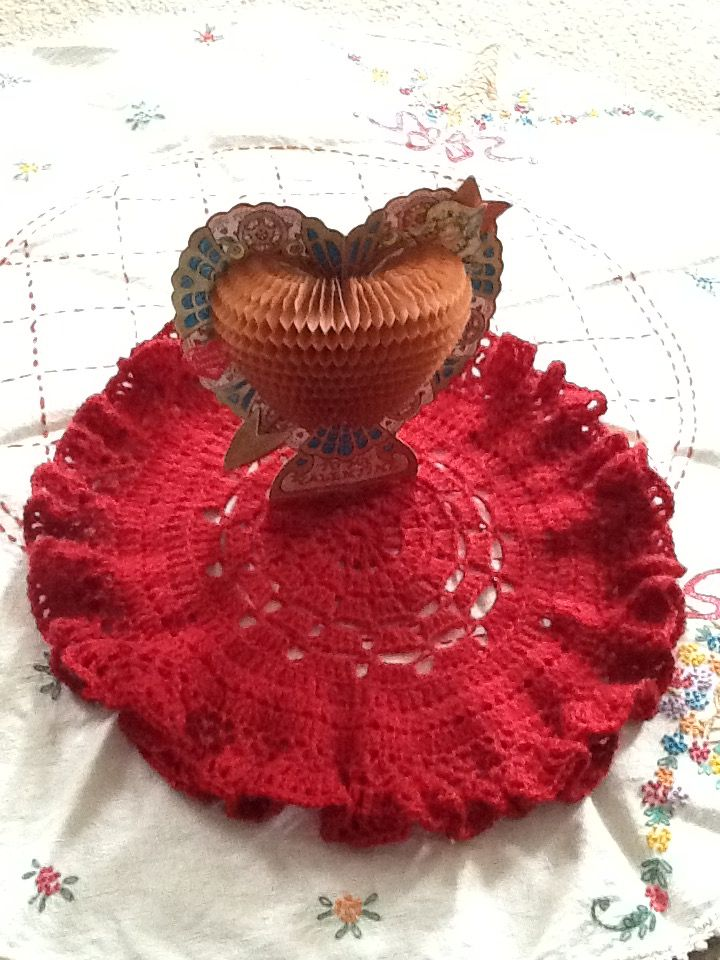 Crocheted Doily.