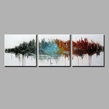 Hand-Painted+Abstract+Vertical+Contemporary+Three+Panels+Oil+Painting+For+Home+Decoration+–+AUD+$+140.25