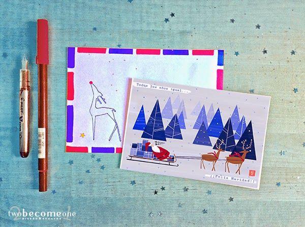 TARJETA NAVIDEÑA DESCARGABLE | 2become1 - Design&Events Studio  Freebie Christmas Card