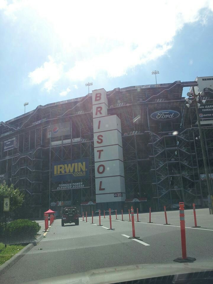 Bristol Motor Speedway!! Best tour ever. We WILL be back to see a race there.