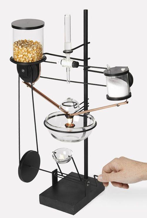 lowtech popcorn machine by swissbased design students laurent beirnaert pierre bouvier