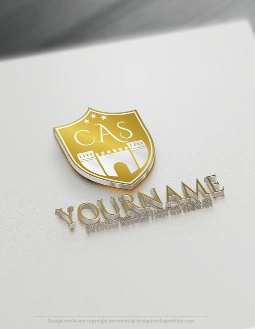 Letter Logo Creator Free Castle Shield Logo Maker