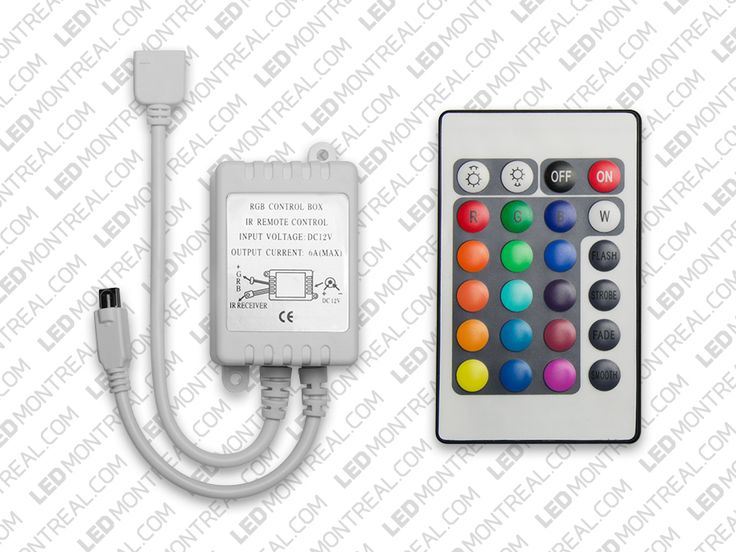 24 Key Remote and Controller for RGB LED Strips Rgb led