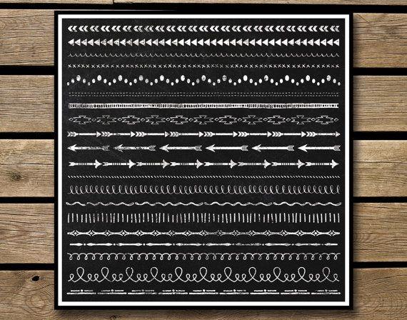 Clipart  Chalkboard Borders   Instant by JubileeDigitalDesign, $6.00