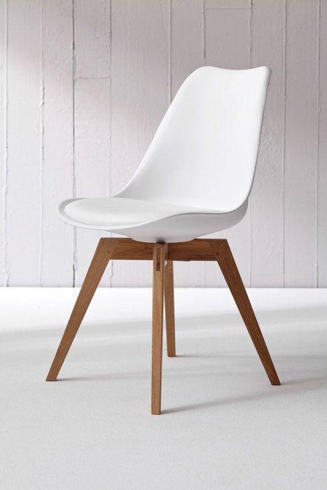 Krzesło Gina Białe Nogi Bess Drewniane - 11