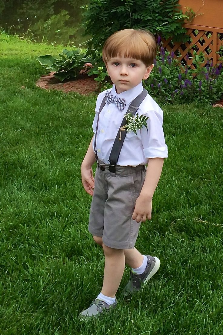 Cute Toddler Boy Summer Wedding Ring Bearer Outfit In