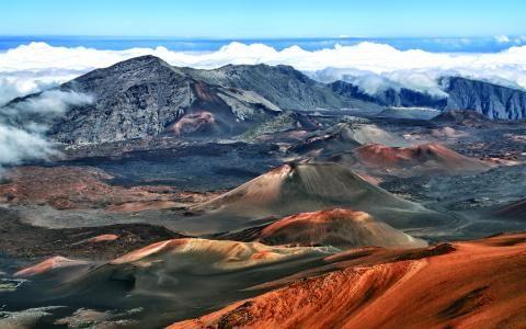 Den udslukte vulkan Haleakala på¨Maui, Hawaii