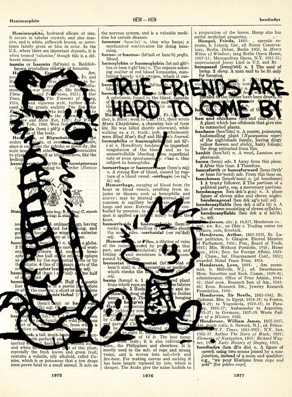 Famous and Lovely Comic Strip Calvin and Hobbes Drawing Vintage Dictionary Art Print 8 x 10 - With Three Printing Options BUY 2 GET 1 FREE. $7.99, via Etsy.