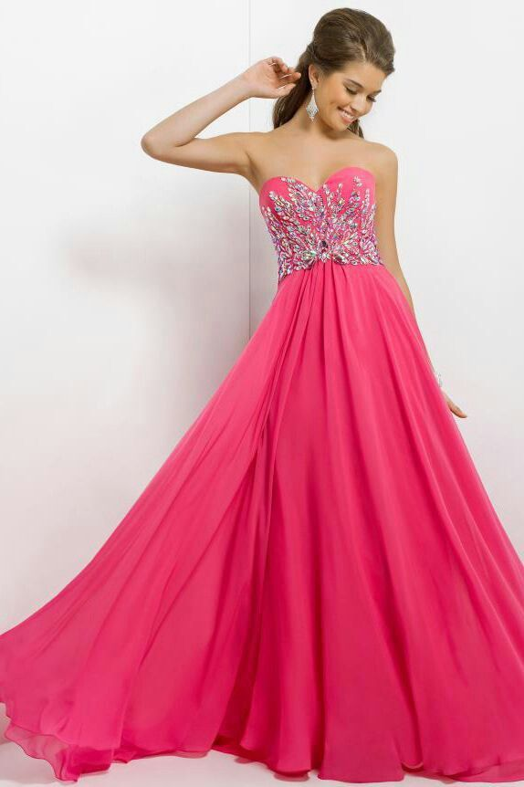 Pink And White Sparkly Prom Dresses - Long Dresses Online