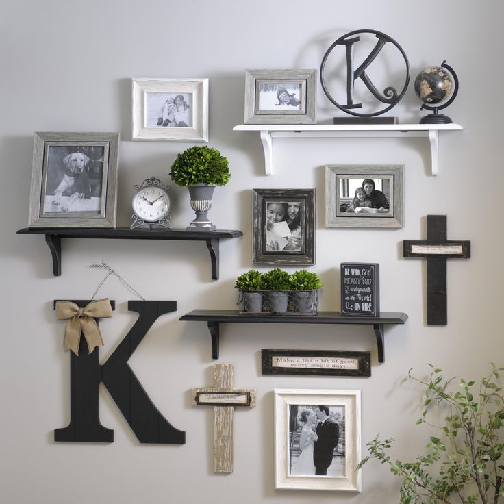 Adding Shelves To The Mix When Creating Gallery Walls Creates A More Exciting And Diversified Look