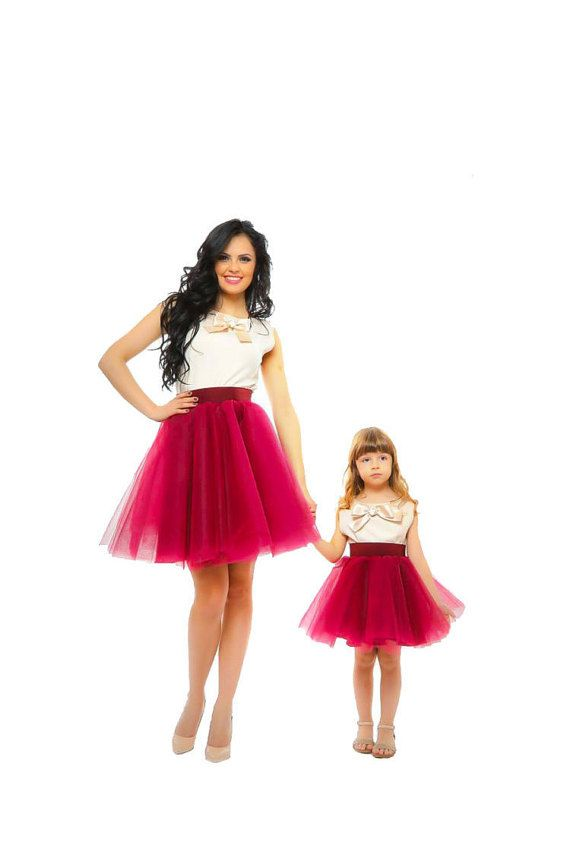 Flowergirl Tulle Skirt Mother Daughter Matching by HIRAetMIRA
