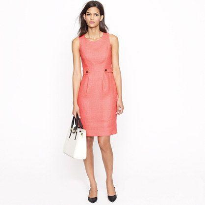 Attaché dress in linen-canvas: J Crew, Summer Work Dresses, Color, Attaché Dresses, Classic Shift, Linens Dresses, Jcrew, Attached Dresses, Linens Canvases