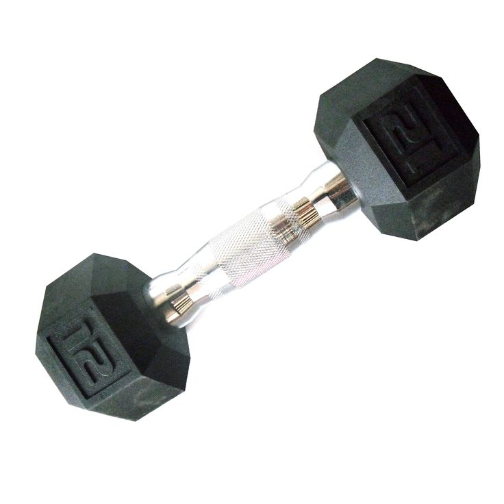 CAP Barbell SDP-015 Color Coated Hex Dumbbell, Black, 15 pound. Protective plastic coating and contoured steel handles. No rubber odor. Dumbbell heads are made of solid cast iron. 6 sided, anti-roll, hexagonal design.