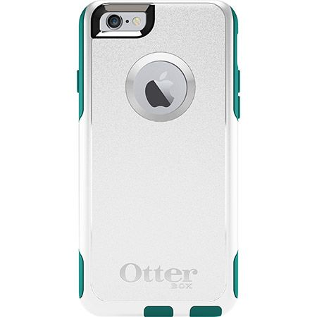iPhone 6 Wallet Case | Commuter Series by OtterBox shell- White(normal, not wallet) and light teal inside