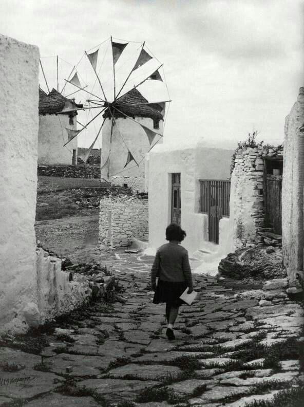 sland of #Mykonos, 1960  Cyclades   Costas Balafas #photography