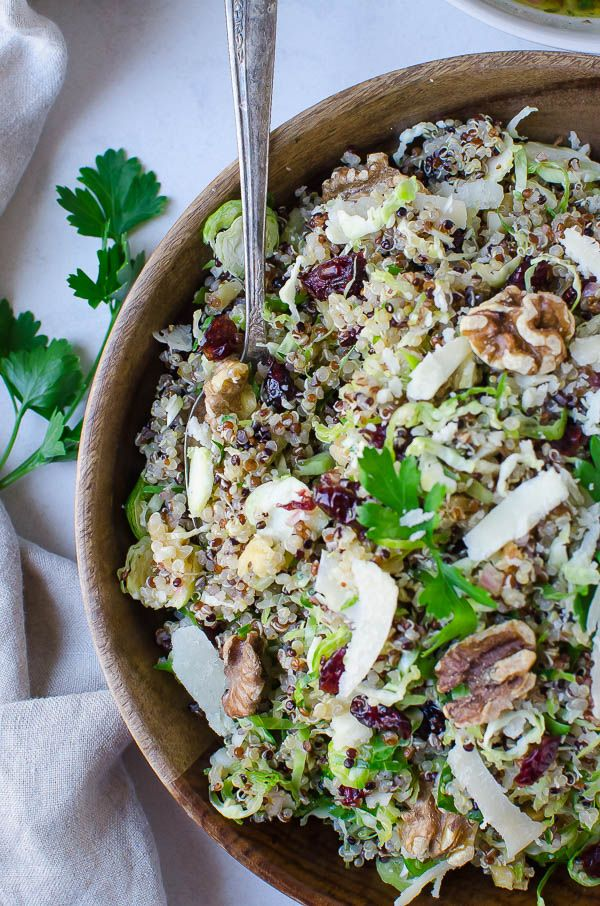 Shaved Brussel Sprout Quinoa Bowl