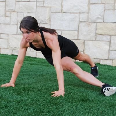 Leg Through Planks.   Set of moves from MMA fighter Kendra Ruff.  STEP IT UP!!!