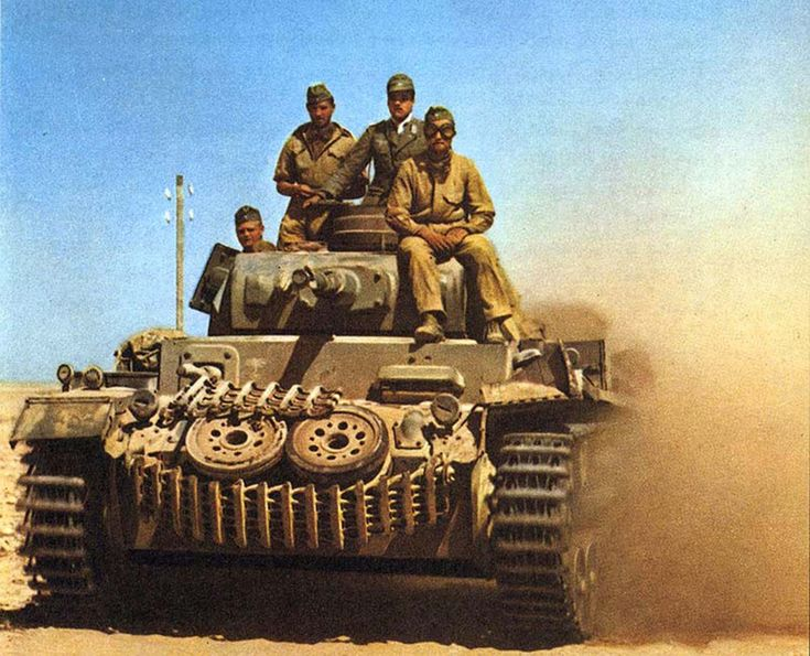 German Panzer III in the Western desert, 1942.
