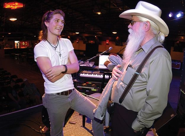 Taylor Hanson and Leon Russell