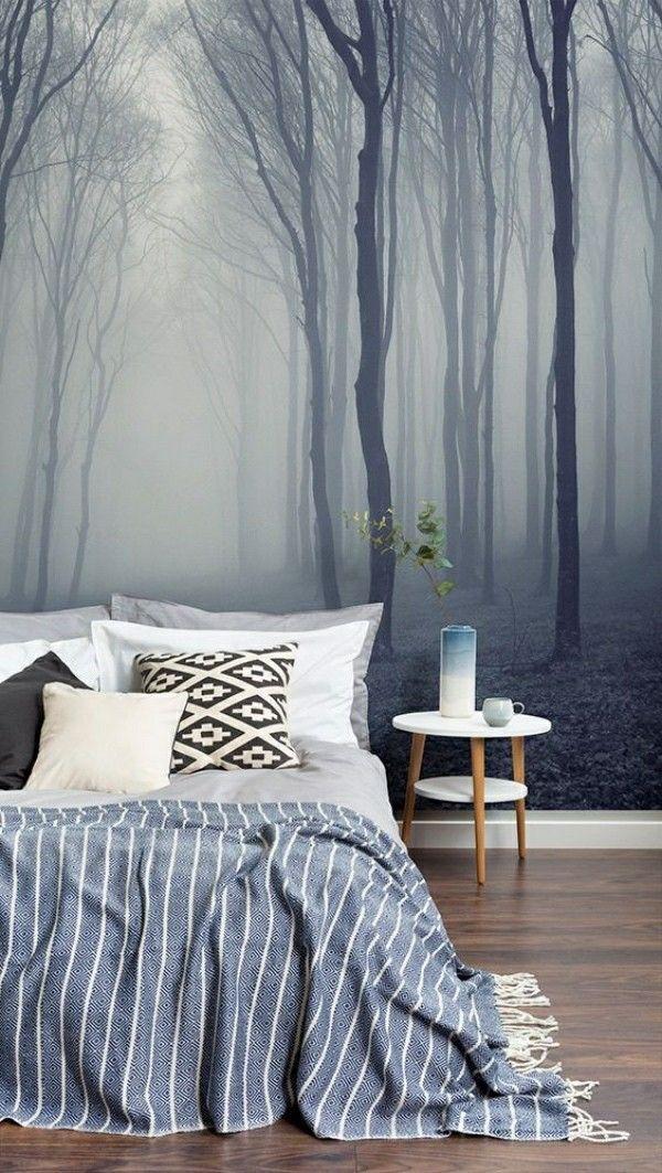 Entzuckend Schlafzimmer Tapeten: Ideen Und Tipps Zur Anwendung | Wandgestaltung |  Pinterest | Minimalist Interior, Wall Papers And Minimalist