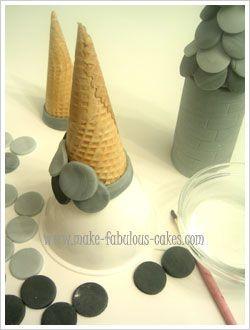 castle  castillo torre tutorías porcelana Fria polymer clay