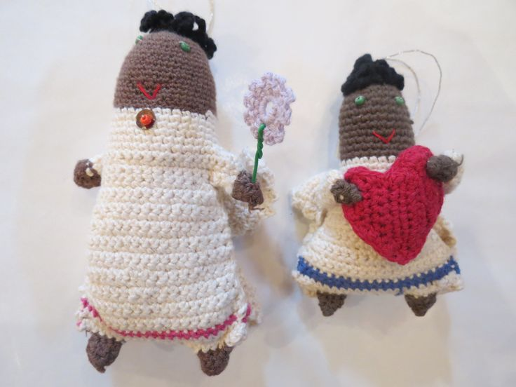 Crochet angels designed and crafted by a local South African women's collective at Kim Sacks Gallery Johannesburg