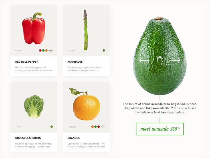 Fruits n' Veggies Product Page by Dave Soderberg for Legwork