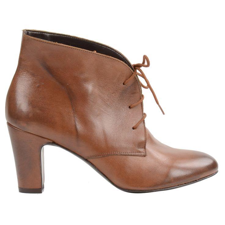 Brown vintage style ankle boots - Bruine enkellaarsjes vintage stijl