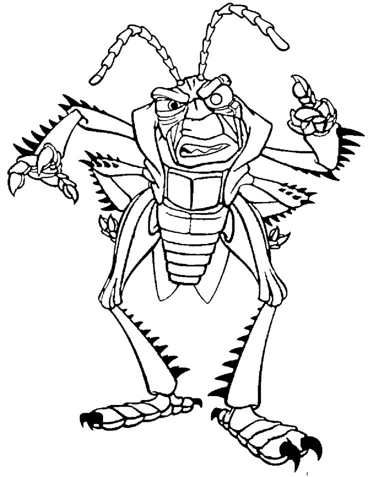 A Bugs Life Hopper Scold Coloring Pages For Kids Printable