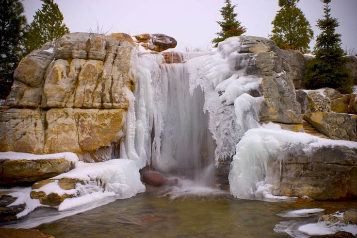 Explore an Icy Waterfall and Grotto in St. Charles, Illinois