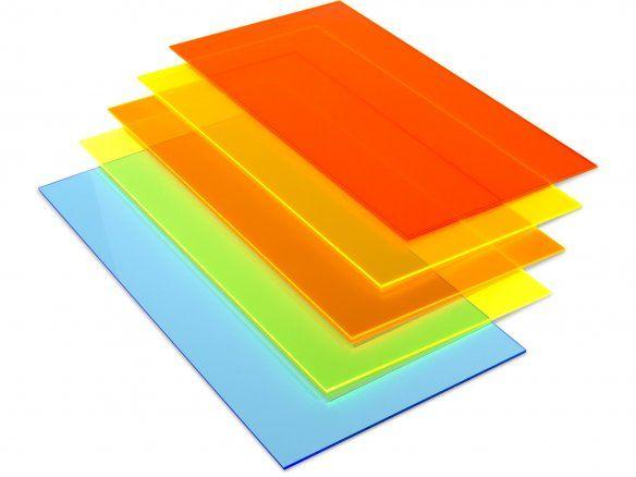 Acrylglas GS transparent, farbig fluoreszierend