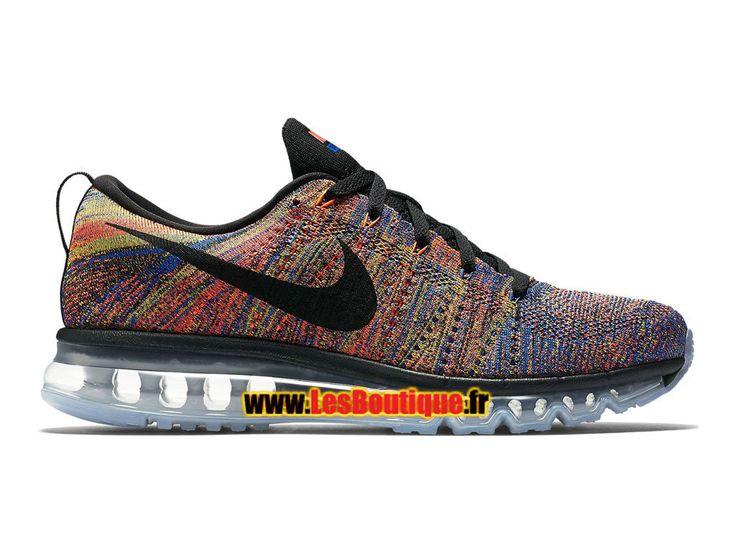Nike Flyknit Air Max - Chaussure de Running Nike Pas Cher Pour Homme Noir /Arc