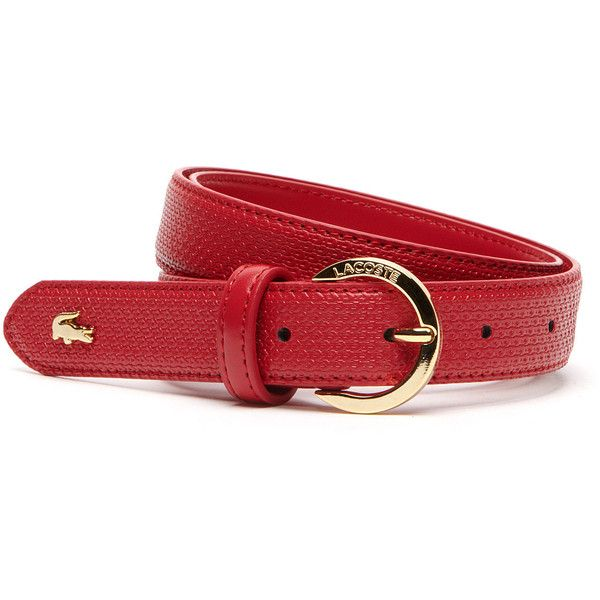 Lacoste Women's Chantaco Belt (305 RON) ❤ liked on Polyvore featuring accessories, belts, belts belts, leather goods, lacoste belt, 100 leather belt, lacoste, leather belts and real leather belts