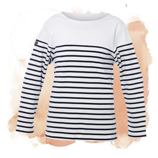 BRETON STRIPED TOP | To add instant French sophistication to even the simplest outfits, reach for a navy and white striped top. Très chic!