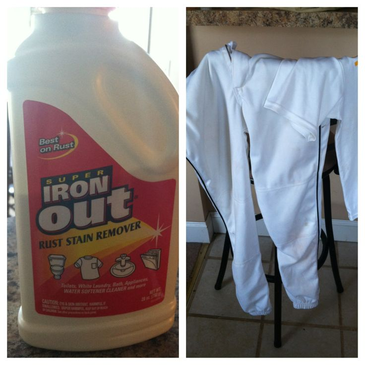 To get stained baseball and football pants white again, soak in 1/2 cup of Iron Out powder, and warm water. I wouldn't have believed it until I tried it out myself! Can be found in the laundry detergent isle!