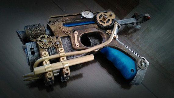 Steampunk - Steampunk gun typeB pistola by ProgettoSteam