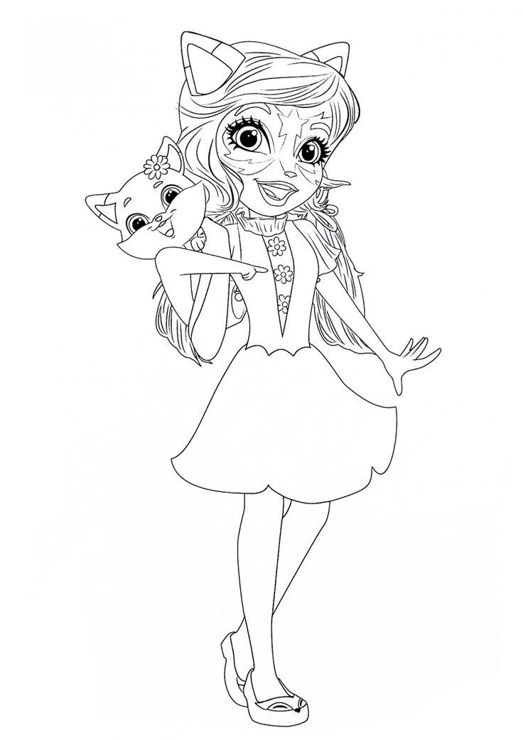 Enchantimals new coloring pages | Desene