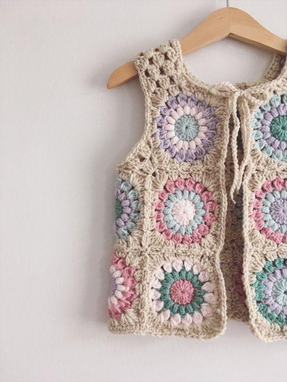 MAY CUSTOM SLOTS Baby Crochet Waistcoat Bohemian