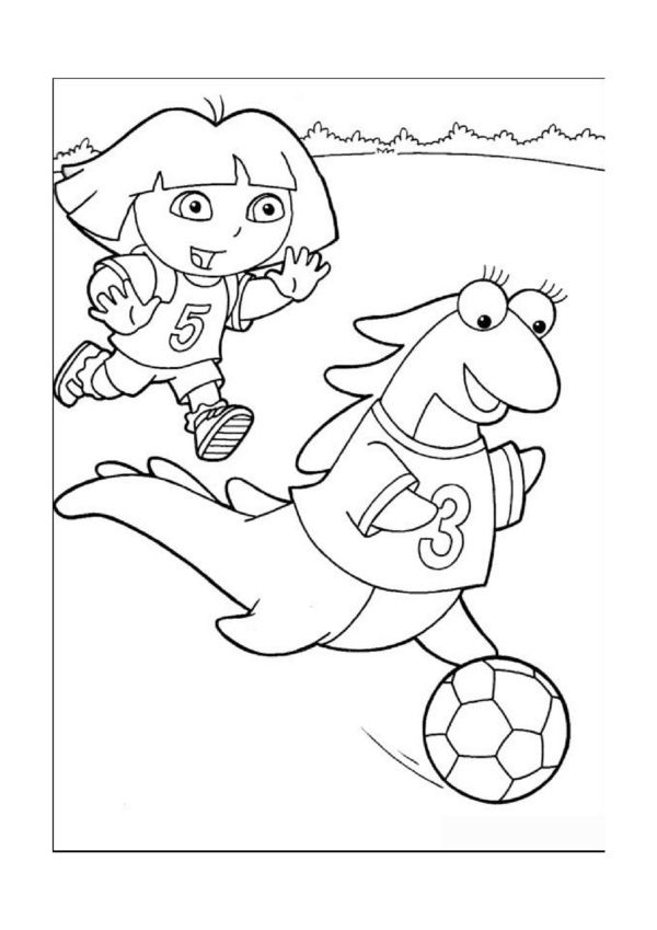 Dora The Explorer Online Coloring Pages Printable Book For Kids 39