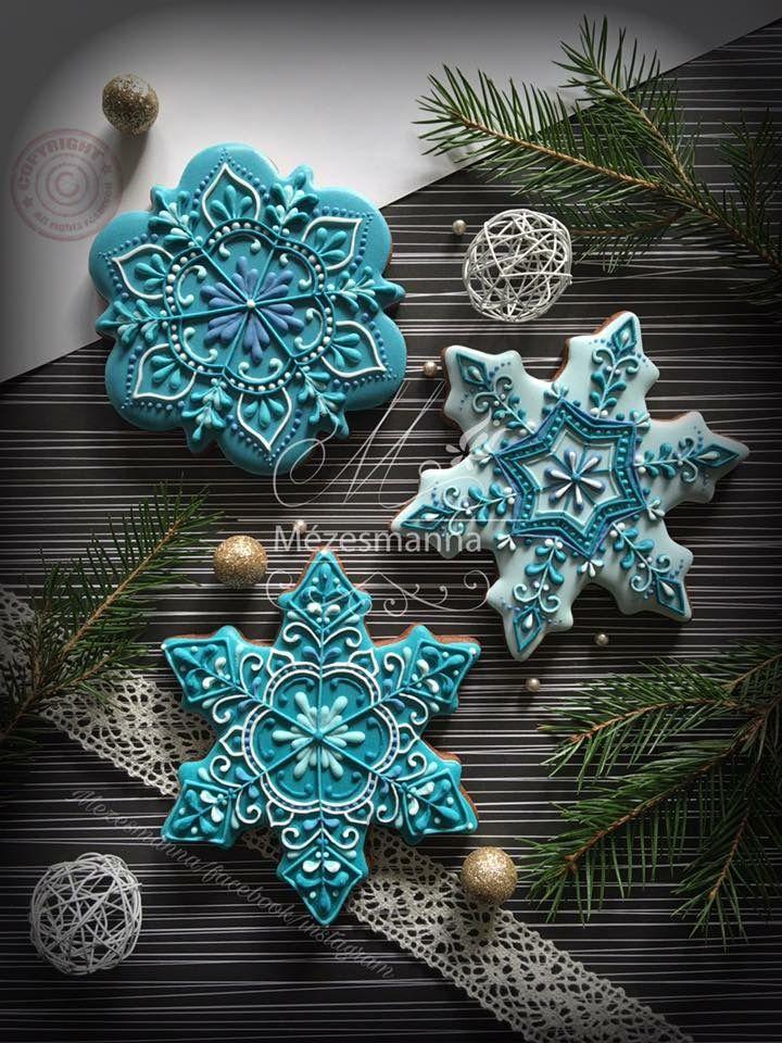 Beautiful snowflake cookies