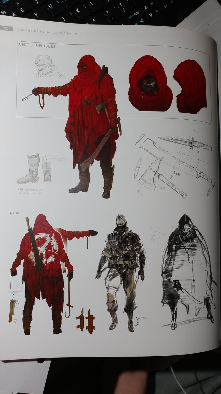 This is probably old news for most of you but I just bought the MGS V artbook today and found unused artwork for Chico #MetalGearSolid #mgs #MGSV #MetalGear #Konami #cosplay #PS4 #game #MGSVTPP