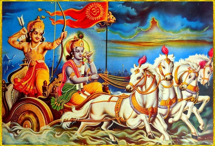 "yatra yogeśvaraḥ kṛṣṇo  yatra pārtho dhanur-dharaḥ  tatra śrīr vijayo bhūtir  dhruvā nītir matir mama    Sanjaya said::  ""Wherever there is Krishna, the master of all mystics, and wherever there is Arjuna, the supreme archer, there will also certainly be opulence, victory, extraordinary power, and morality. That is my opinion.""~Bhagavad Gita as it is 18.78"