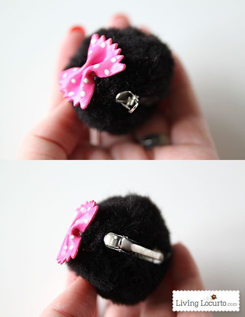 Minnie Mouse Ear Hair Clips. A cute Disney Craft for Kids inspired by the children's book Minnie in Paris.
