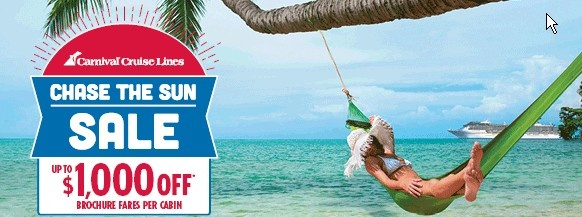 carnival cruises chase the sun sale