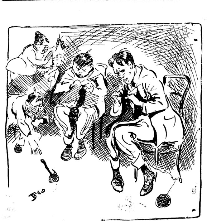 WHY NOT? Put the shirkers on knitting stockings for nurses (Observer, 19 June 1915)