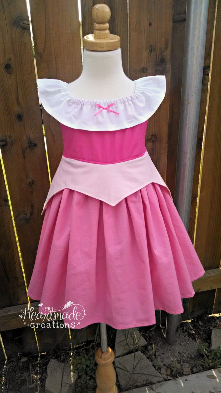 Aurora - Sleeping Beauty - Everyday Princess Dress - Character Inspired Dress - Sizes 2 through 10 by HeartmadeCreations on Etsy https://www.etsy.com/listing/172288634/aurora-sleeping-beauty-everyday-princess