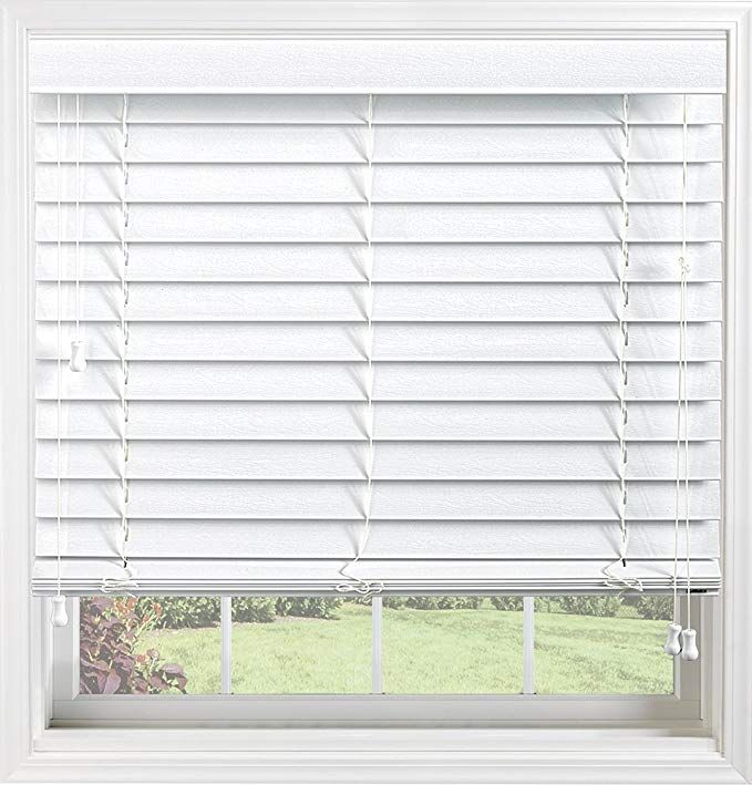 Bali Blinds Custom Faux Wood 2 Corded Blinds With Cord Tilt 35 5