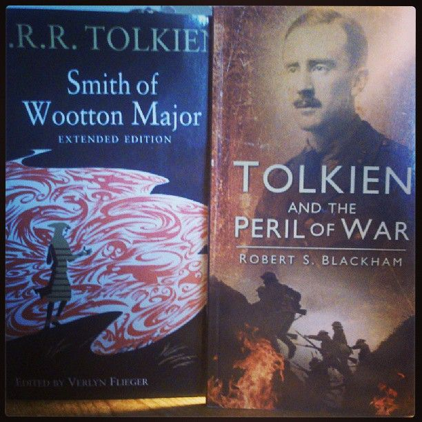 """Two new books, stacking up on #Tolkien library.   Verlyn Flieger's extended edition on """"Smith of Wootton Major"""" and Bob Blackham's """"Tolkien and the Peril of War.""""   #tolkien #library #collection #secondaryliterature #hobbit #lordoftherings #silmarillion #wwi #smithofwoottonmajor #verlynflieger #bobblackham"""