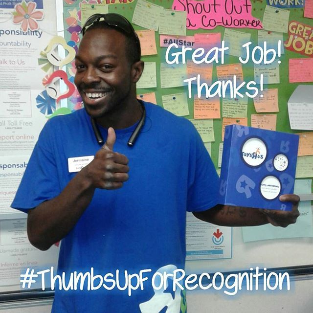 """A big thumbs up for Jermaine, one of our bike assemblers, for his 5 year anniversary with us here @salinastoysrus Keep up the great work!  #thumbsupforrecognition #awesomemoment #toysrus #salinastoysrus #trusalinas #bikes #anniversary #imatoysruskid #idontwannagrowup #salinas #toysrus5820 #tru5820 #montereylocals #salinaslocals- posted by Toys""""R""""Us Salinas https://www.instagram.com/salinastoysrus - See more of Salinas, CA at http://salinaslocals.com"""